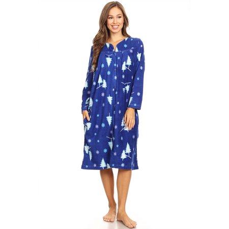 Lati Fashion - 4045 Fleece Womens Nightgown Sleepwear Pajamas Woman Long  Sleeve Sleep Dress Nightshirt Navy XXL - Walmart.com 43d977f12