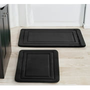 Mainstays 2 Piece Black Memory Foam Bath Rug Set, Available in Multiple Colors