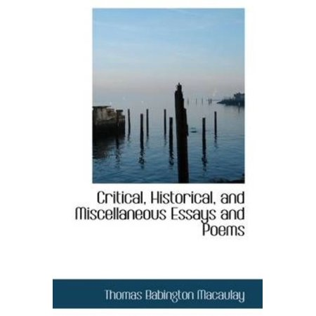 Critical, Historical, and Miscellaneous Essays and Poems - image 1 de 1