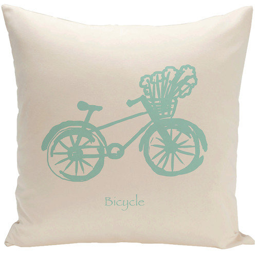 E By Design Decorative Bicycle Throw Pillow