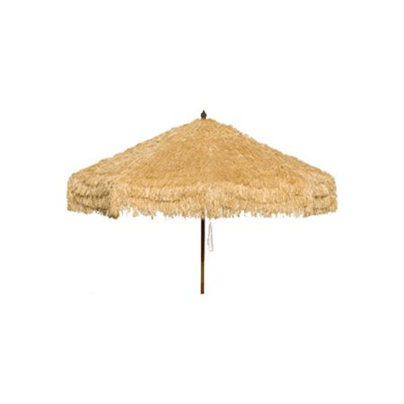9ft Palapa Tiki Tilting Party Umbrella Home Sun Canopy Natural - Patio Pole - Tiki Umbrellas