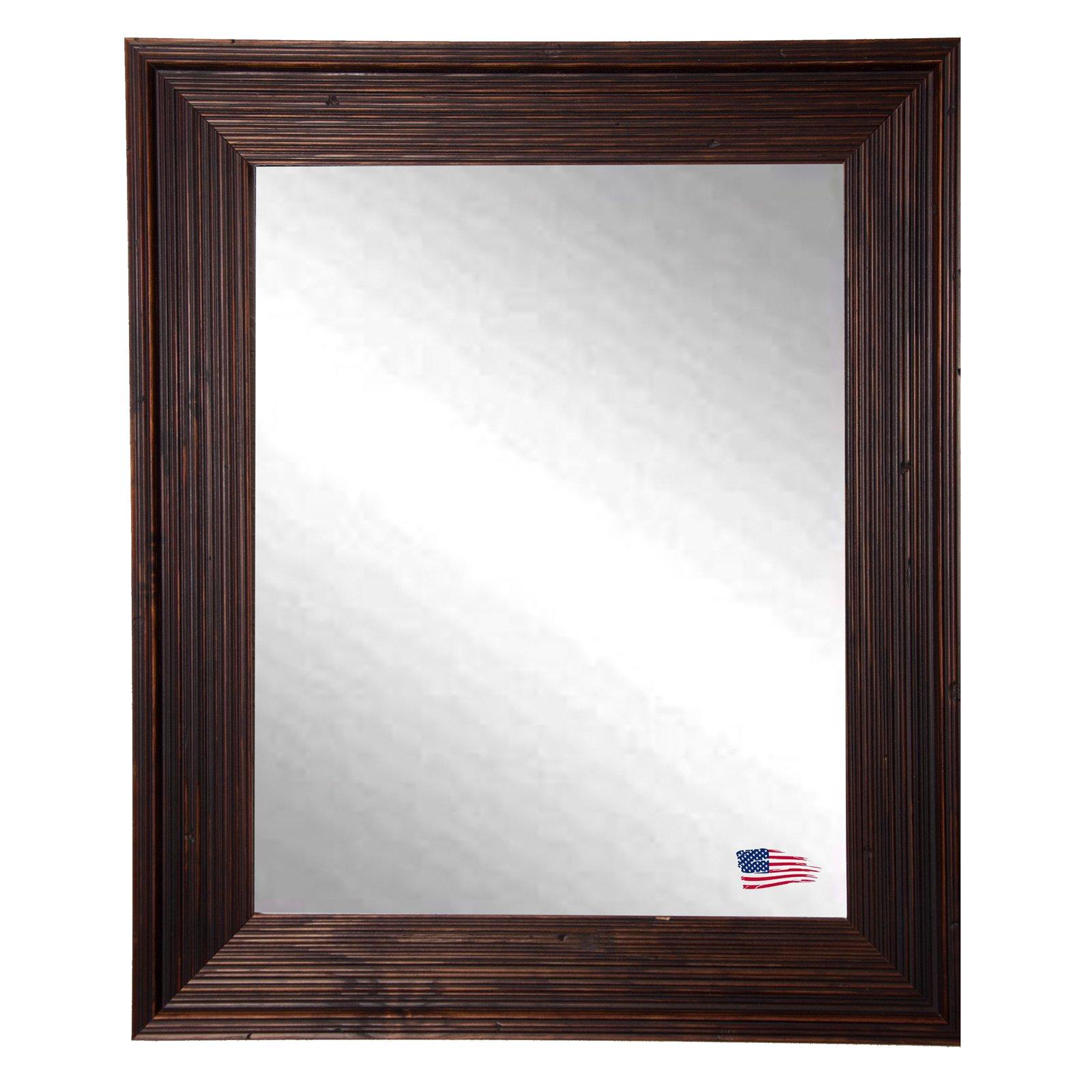Rayne Mirrors Rustic Brown Wall Mirror