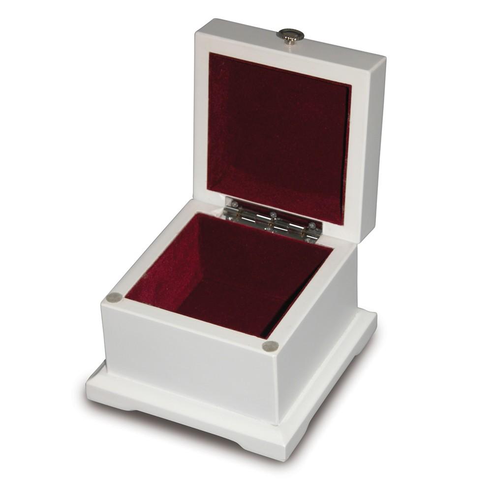 Creative Gifts blanca hinged lid wood box 3.5 x 4.75 x 4.75