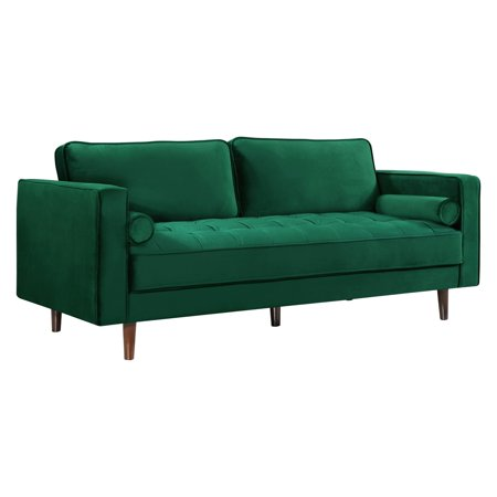 Emilys Coach - Meridian Furniture Inc Emily Velvet Sofa