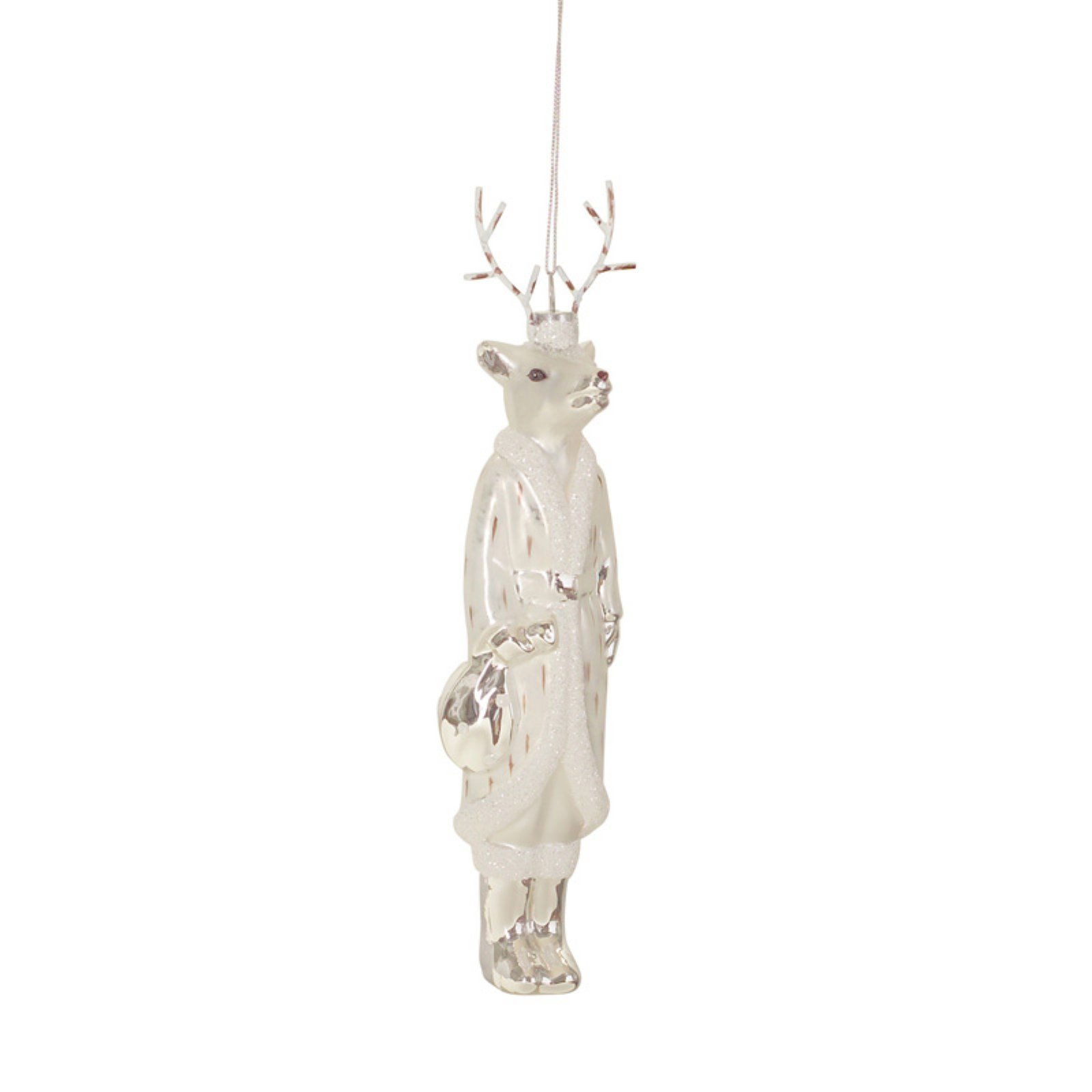 Melrose International Melrose 8.5 in. Tall Deer Glass Ornament