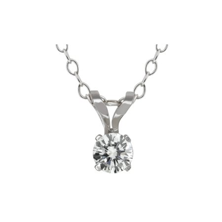 14k white gold solitaire diamond pendant necklace gh si2 i1 015 14k white gold solitaire diamond pendant necklace gh si2 i1 015 carat aloadofball Images