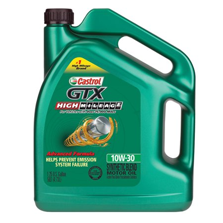 Castrol gtx 10w 30 high mileage motor oil 5 qt for 5 30 motor oil