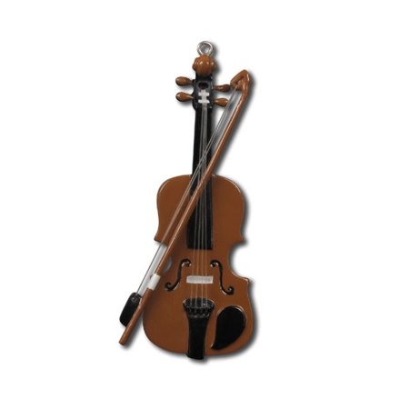 Violin Musical Instrument  Personalized Christmas Ornament (Christmas Instruments)