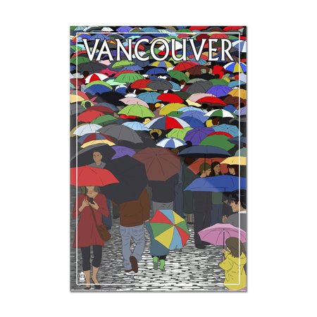 Vancouver, BC - Umbrellas - Lantern Press Artwork (8x12 Acrylic Wall Art Gallery Quality)](Halloween Vancouver Bc)