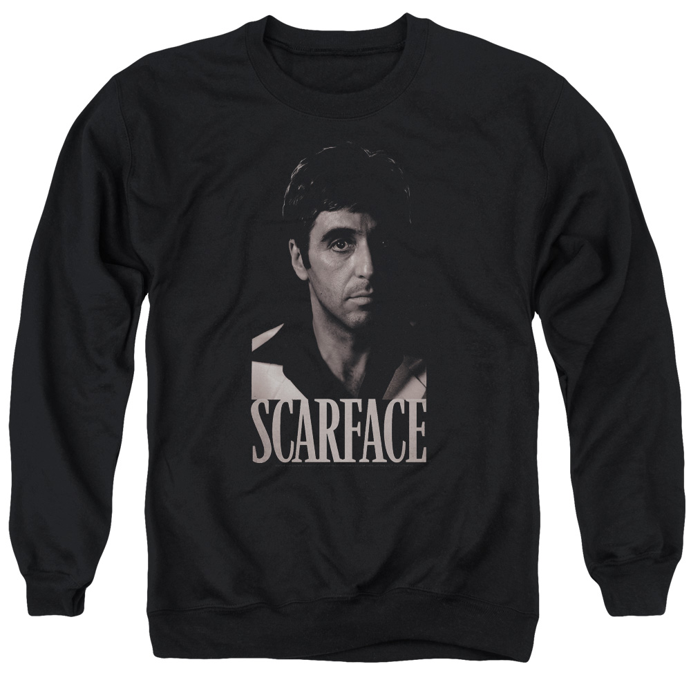 Scarface B&W Tony Mens Crewneck Sweatshirt