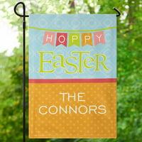 Personalized Hoppy Easter Garden Flag