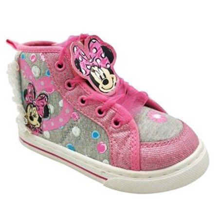 Girls Shoes (Disney Minnie Mouse Toddler Girls' Dotty High Top)