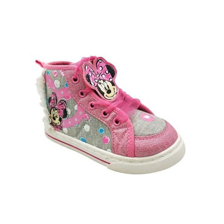 Disney Minnie Mouse Toddler Girls' Dotty High Top Sneaker](Minnie Mouse Toddler Shoes)