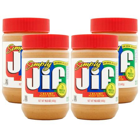 (3 Pack) Simply Jif Creamy Peanut Butter, 15.5 oz ()