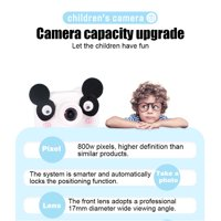 SEGMART Kids Camera for Little Girl's Birthday Gift, Mini Lovely Panda Cameras Camcorder with 32GB TF Card, Shockproof Digital Camera with Soft Silicone Shell, for Halloween Christmas Gift, S7524