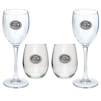 Southern Miss USM Goblet Set Stemmed and Stemless Wine Set