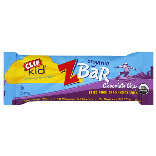 Clif Kid Chocolate Chip Z Bar, 1.27 oz (Pack of 18)
