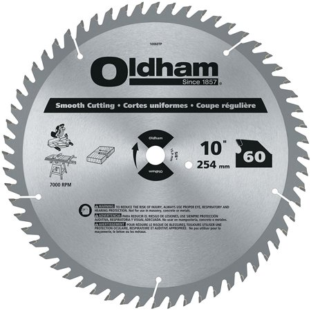 10060TP All Purpose 10-Inch 60 Tooth ATB Crosscutting and Ripping Saw Blade with 5/8-Inch Arbor, Full bodied plate provide clean, accurate cuts..., By Oldham Ship from US (Crosscutting System)