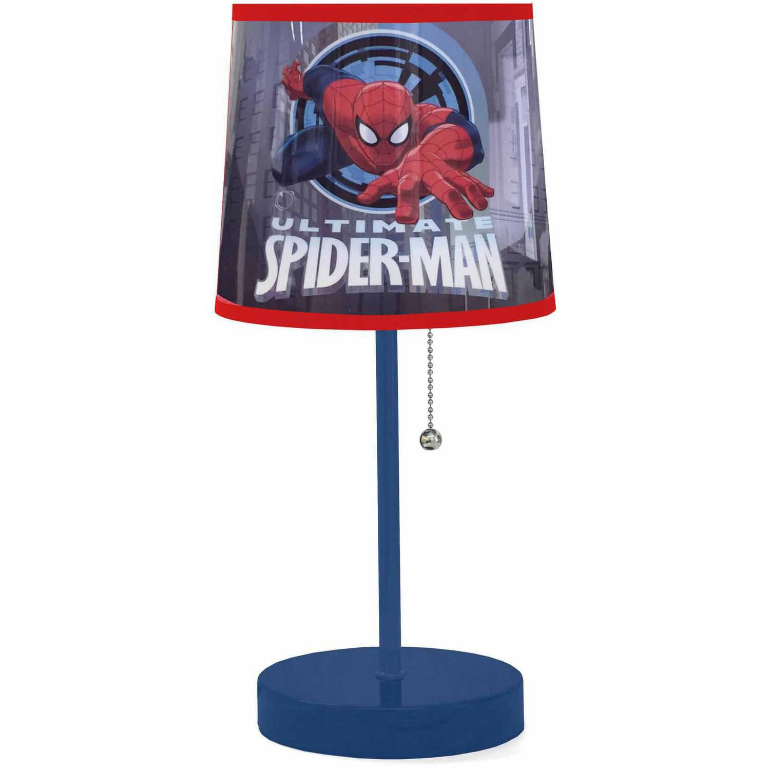 Marvel Spider-Man Stick Lamp with CFL Bulb - Walmart.com