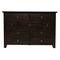 Jofran Kona Grove 9 Drawer Dresser in Chocolate