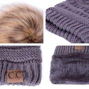 Bubble Knit Slouchy Baggy Beanie Oversize Winter CC Hat Ski Slouchy Cap Skull Women