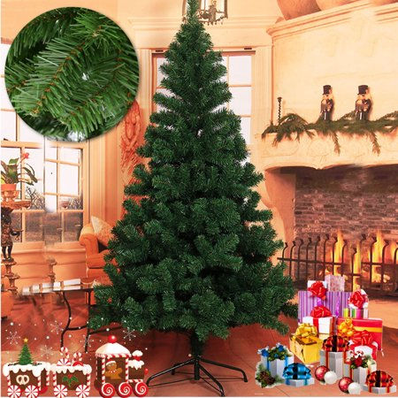 7.5ft Premium Hinged Artificial Christmas Tree with Metal Stand, 1350 / 2100 Tips for Indoor and Outdoor Holiday Decoration, Easy Assembly - Green ()
