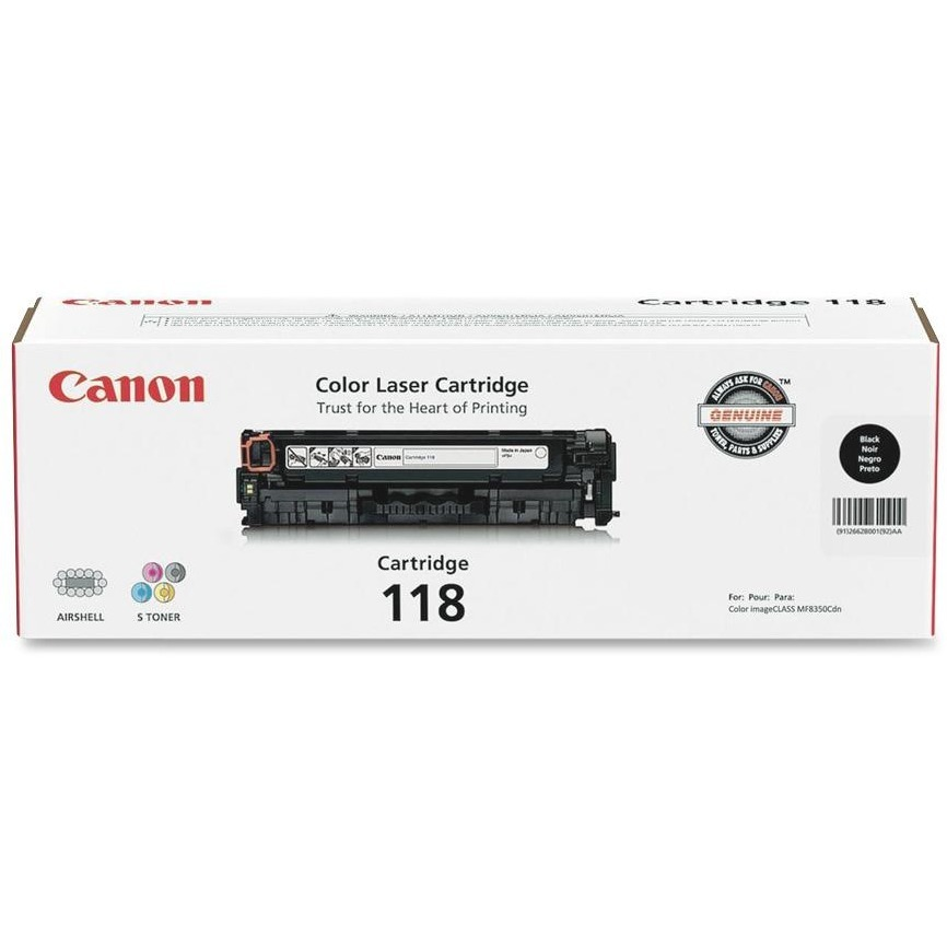 Canon, CNMCRTDG118BKVP, Cartridge118BK Twin Pack Toner Cartridge, 2 / Pack