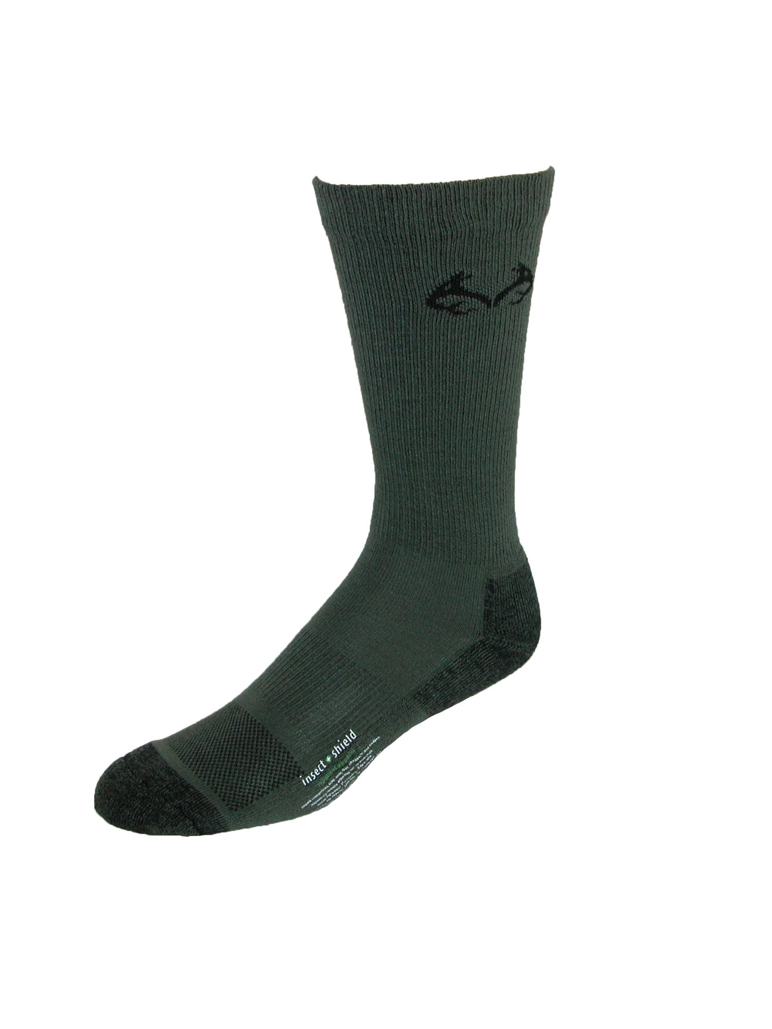 Insect Repellent Technology Size L No Fly Zone Realtree Cotton Crew Socks