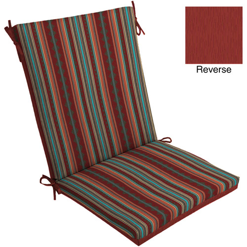 Mainstays Dining Chair Outdoor Cushion Brick Turquoise