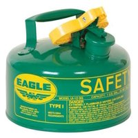 EAGLE UI10SG 1 gal. Green Galvanized steel Type I Safety Can for Oil