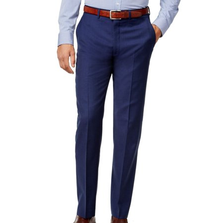 Ryan Seacrest NEW Blue Mens Size 30X32 Dress - Flat Front Wool Pants