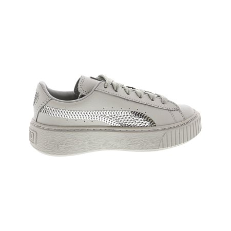 check out cc4f6 9f4ab Puma Basket Platform Bling Ps Grey Violet / Silver Ankle ...