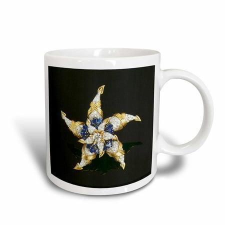 - 3dRose Diamonds and Blue Sapphire Star, Ceramic Mug, 15-ounce
