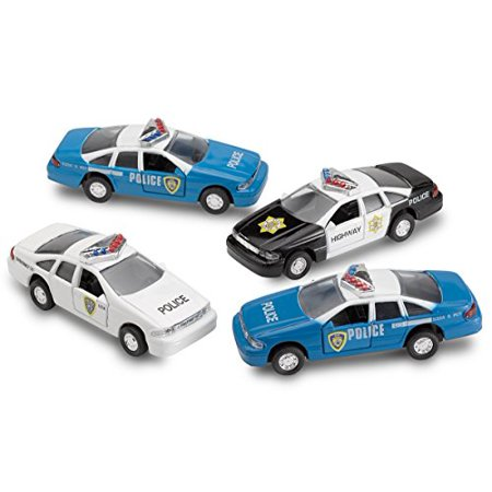 4 Pull Back Diecast Police Toy Cars High Speed Vehicle Set Toy For Kids – By Kidsco](Kids Police Cars)