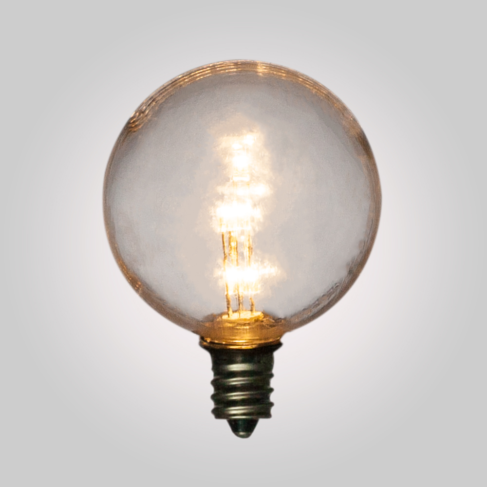 Fantado Warm White .5-Watt LED G40 Globe Light Bulb, Shatterproof, E12 Candelabra Base by PaperLanternStore