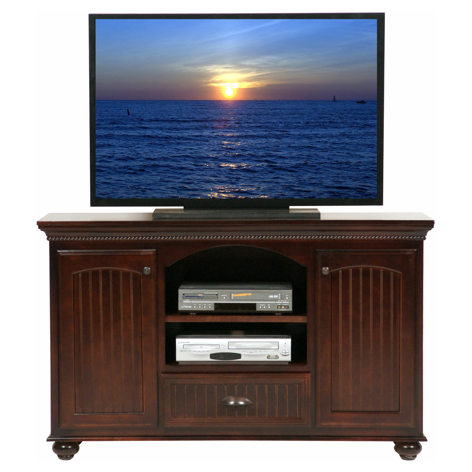 Eagle Furniture American Premiere Customizable 58 in. Entertainment TV Stand with 2 Doors
