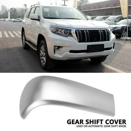 EECOO Gear Shift Knob Frame,Car Center Gear Shift Knob Cover Trim Chrome for Toyota Land Cruiser Prado J150 2010-2017,Gear Shift Knob Cover