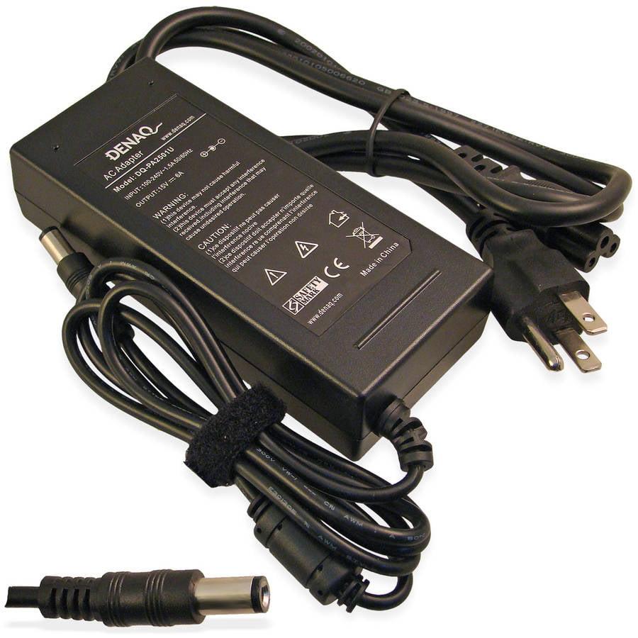 DENAQ 15-Volt 6-Amp 6.0mm-3.0mm AC Adapter for Toshiba Tecra, Satellite, Satellite Pro and Portege Series Laptops