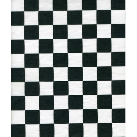 CASE Handy Wacks FDP12BK, 12x12-Inch White Flat Deli Paper with Black Checkerboard Print, 6x1000-Piece Packs
