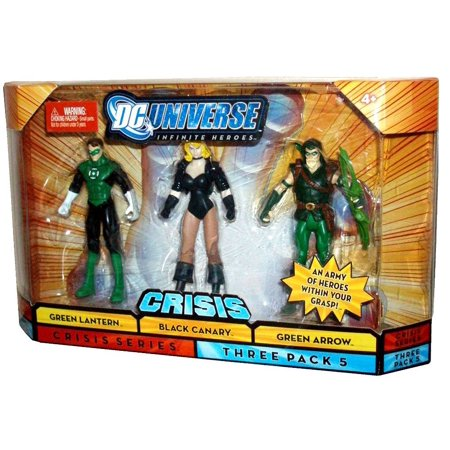 Mattel DC Universe Infinite Heroes Crisis Series 3 Pack 4 Inch Tall Action Figures Set #5 - Green Lantern, Black Canary and Green Arrow with Bow by, Includes :.., By DC Comics Ship from (Justice League Black Canary And Green Arrow)