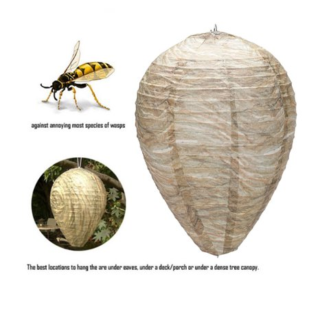 Ustyle Flying Hanging Wasp Bee Trap Fly Insect Simulated Wasp Nest Effective Safe Non-Toxic Hanging Wasp Deterrent - image 5 of 7