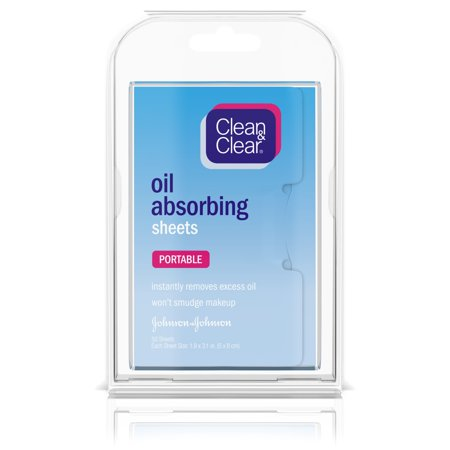 (2 pack) Clean & Clear Oil Absorbing Facial Blotting Sheets, 50 ct.