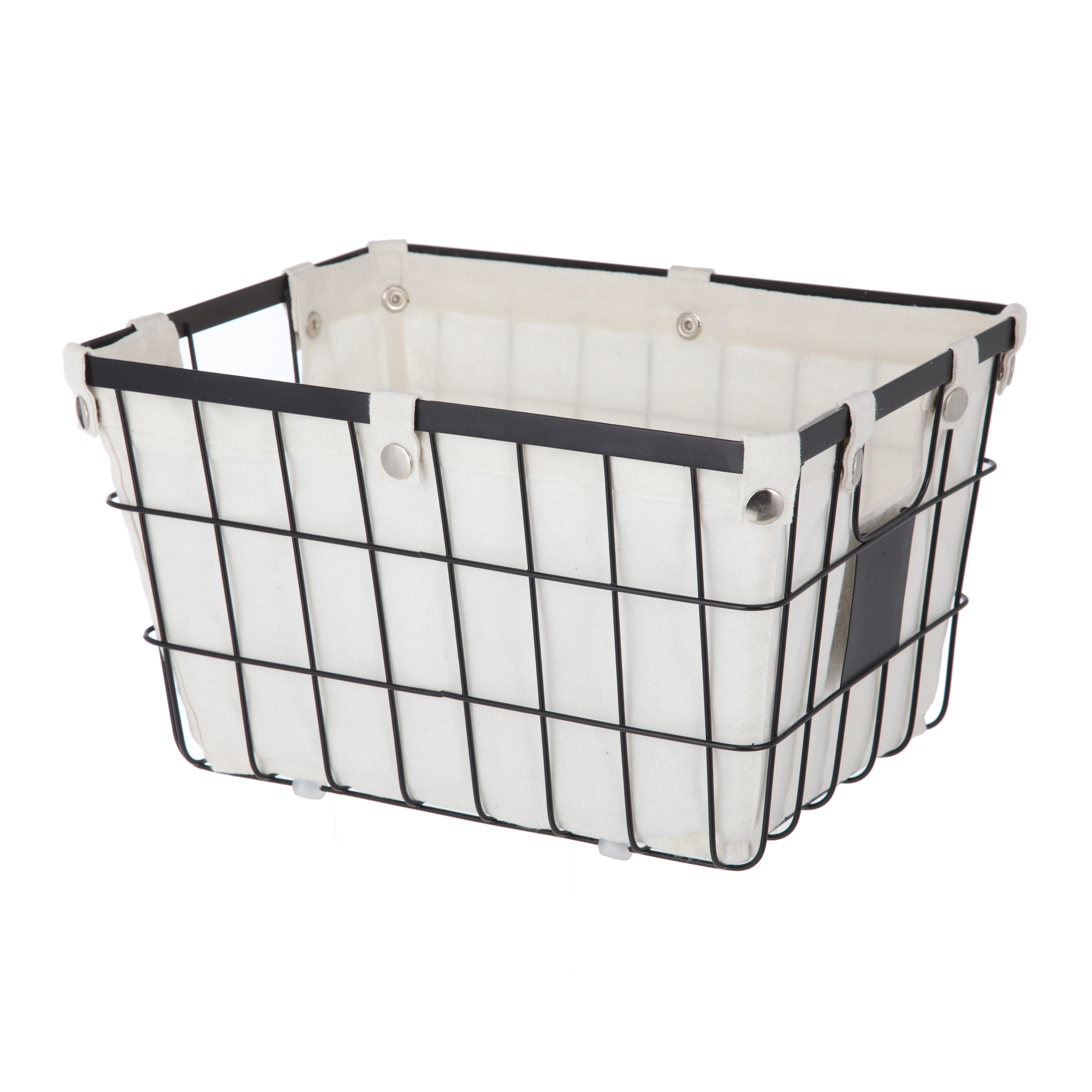 Better Homes and Gardens Small Wire Basket with Chalkboard, Black (1 ...