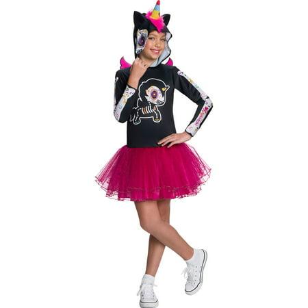 Tokidoki Girls Dia De Los Muertos Caramelo Unicorno Costume (Halloween O Dia De Muertos)