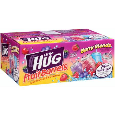 Little Hug Berry Blends Fruit Barrels Variety Pack  8 Fl Oz  20 Pack