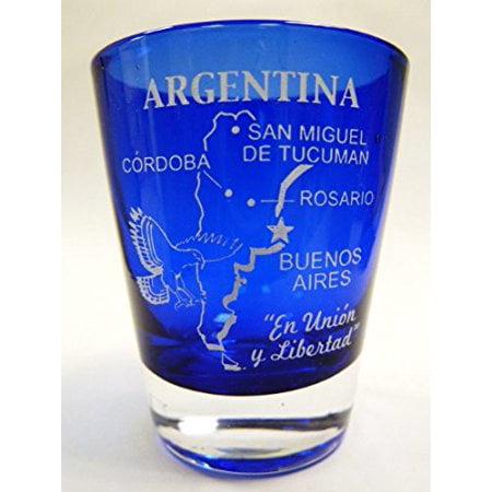 Argentina Cobalt Blue Frosted Shot Glass