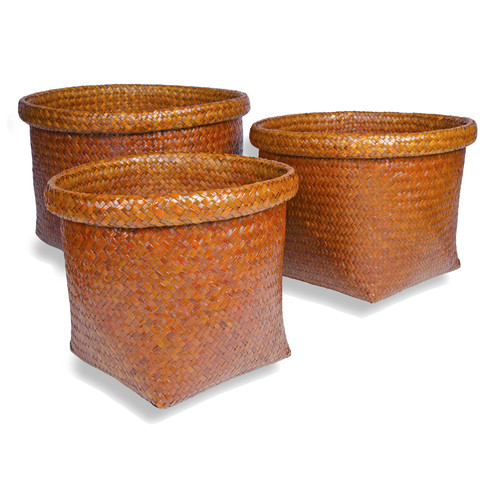 Foreign Affairs Home Decor Tembaga Square Basket 3 Piece Set