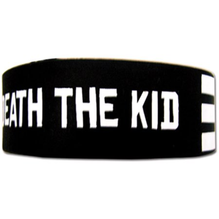 Soul Eater Men's  Death The Kid Stripe Anime Wristband - Death Eater Tattoo