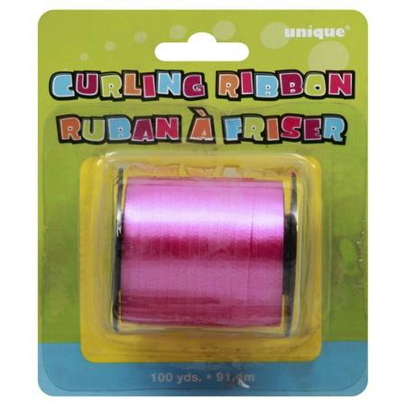 Curling Ribbon, Hot Pink, 100 yd, 1ct (Pink Curling Ribbon)