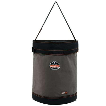 Ergodyne Arsenal® 5935T XL Web Handle Canvas Hoist Bucket with Top, Gray, XL
